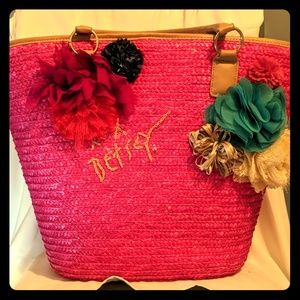 Betsey Johnson beach bag